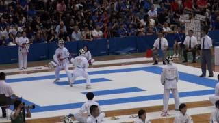 29日 空手道 女子団体組手 T2 3 青森明の星×宮崎第一 1回戦