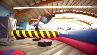 Parkour Akrobatik im Freizeitpark Essen - Indoor Trampolin Sprung Tricks in NRW - AirHop