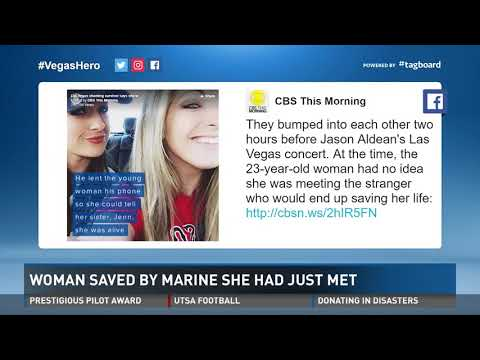 Woman saved by marine she had just met