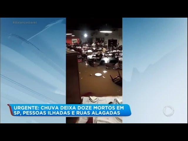 Fortes chuvas causam estragos e prejuízos para moradores da Grande São Paulo