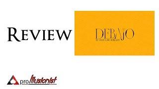 Debajo by Juan Luis Rubiales - Review - DEUTSCH