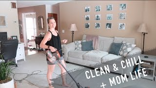 Chill & Clean With Me!  + Mom Life + Potty Training