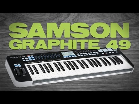 Samson Graphite 49 USB Keyboard Controller - First Look and Demo