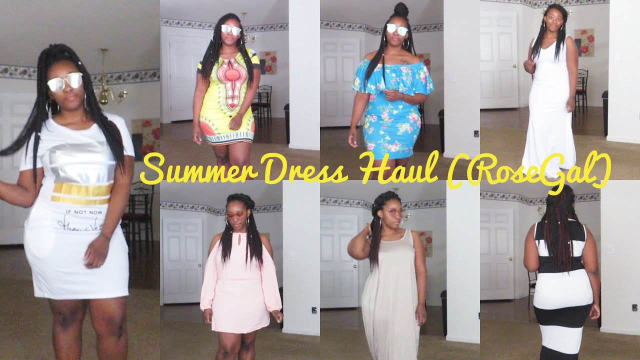 2750c0d0ac91 Summer Clothes TRY ON Haul 2018 | Rosegal | Dresses & Shades - YouTube