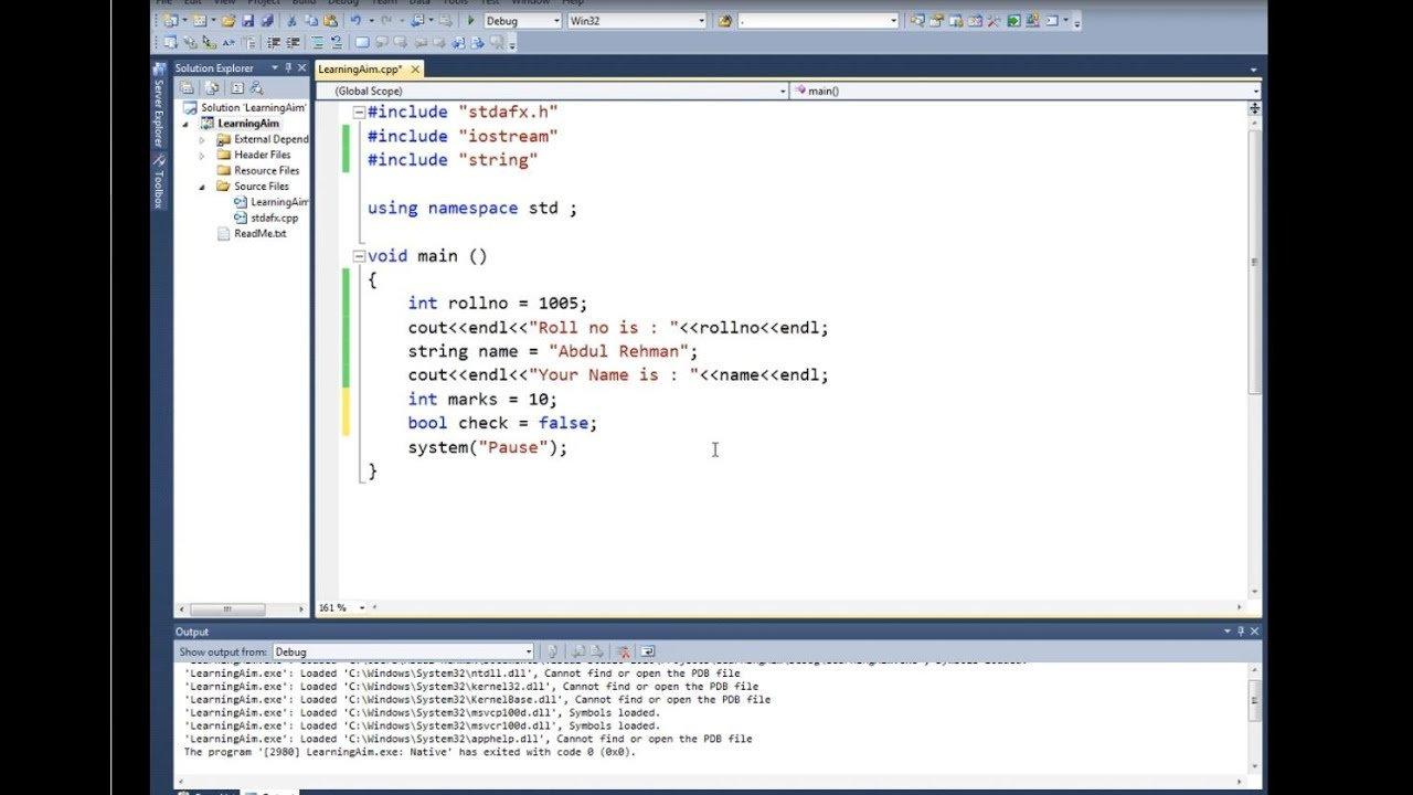 Lec 03 Variable Declaration And Usage With Example C