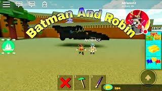 Collab mit Bogenschützen Ase Batman und Robin In Roblox bauen ein Boot für Schatz