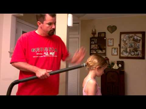 Dads + Daughters + Dysons = The Ponytail Vac Hack