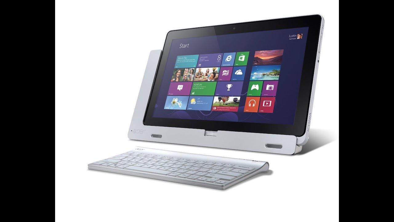 ГаджеТы: клавиатура-док для Acer Iconia Tab W510 - YouTube