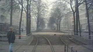 Strassenbahnfahrt Linie 58, Ostberlin, DDR, Jan.1990