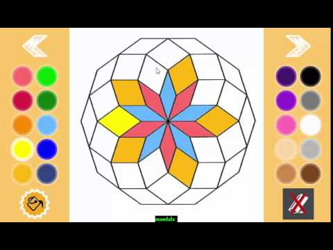 Mandala coloring pages 11v coloring game for android YouTube