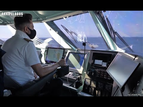POWER JET (High Speed Craft) Maneuvers in the ports from the bridge