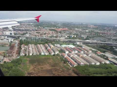Indonesia AirAsia XT250 Landing in Don Mueang 12R