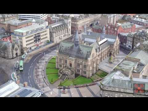 Dundee City Centre Scotland Aerial Drone Views