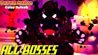 Paper Mario: Color Splash - ALL Boss Battles