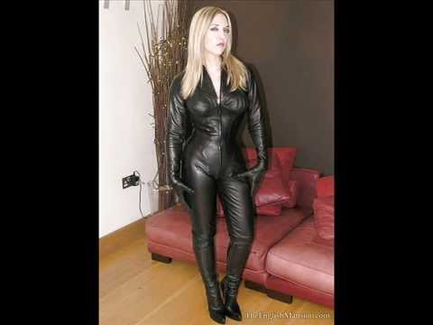 Girls wearing lether and latex