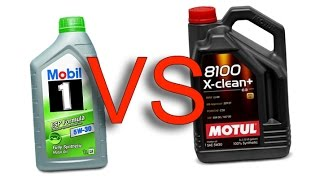 Mobil 1 ESP Formula 5W30 vs Motul 8100 X-Clean+ 5W30