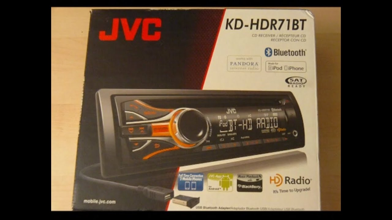 JVC KD-HDR71BT HD Radio Car Stereo Unboxing And Test
