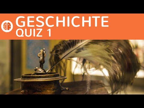Geschichte Quiz-Rätsel 1: Schriftzeichen Germanen, Mittelalter, Südpol, Viertaktmotor