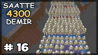 Download lagu SAATTE 4300 DEMİR FARMI 1 14 Minecraft Survival Bölüm 16