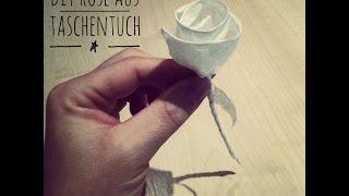 DIY Idee: Rose aus einem Taschentuch falten - Faltanleitung Valentinstag Geschenk