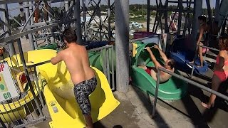 Mellow Yellow water park slide at Calypso Theme Waterpark in Limoge...