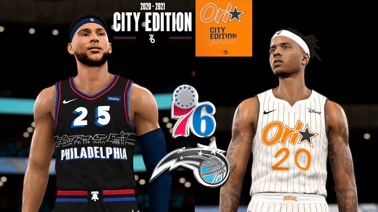 Orlando Magic Vs Philadelphia 76ers 20 21 City Jerseys Preview Modded Nba 2k21 Youtube