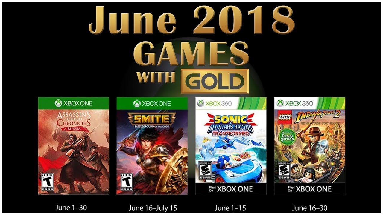 Xbox Live Games With Gold June 2018 Youtube