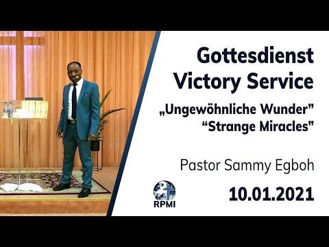 """RPMI-Gottesdienst - 10.01.2021 - Pastor Sammy Egboh """"Ungewöhnliche Wunder"""""""