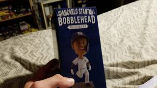 Giancarlo Stanton Bobblehead Giveaway, 2019 Yankees Yearbook, Souvenir Cup