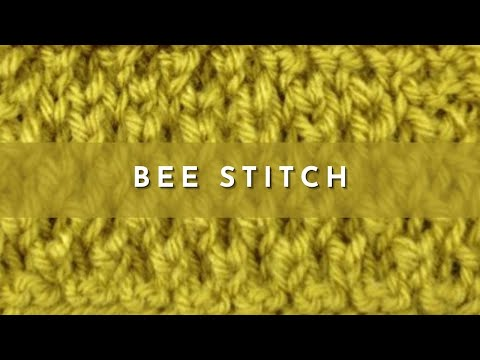 How To Knit The Bee Stitch Youtube