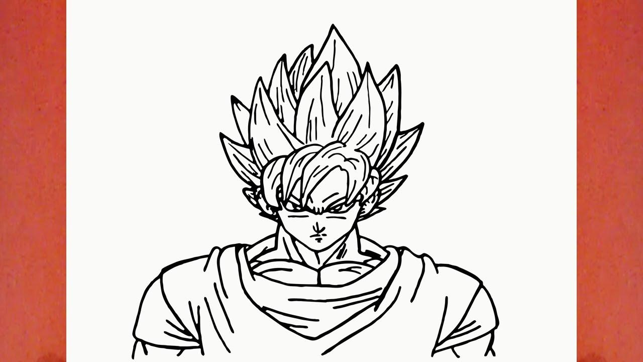 como desenhar o goku super saiyajin de dragon ball z ssj1 how to
