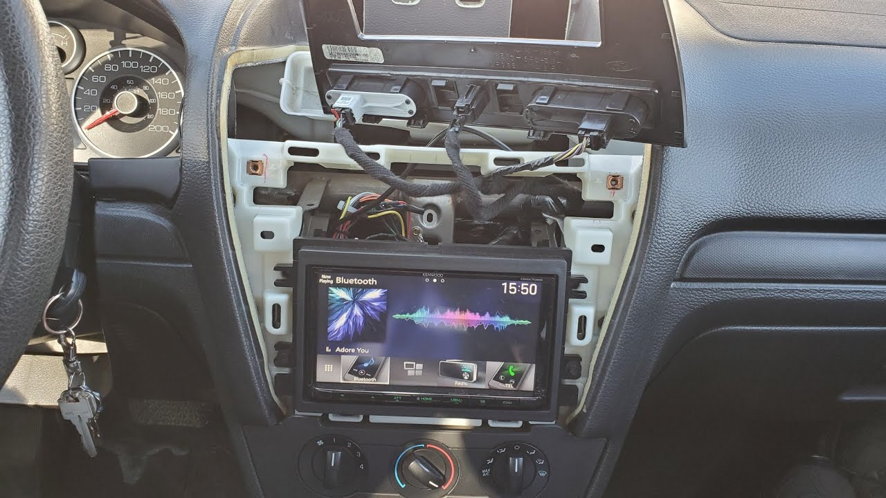Ford Double Din Radio Install 09 Fusion Youtube