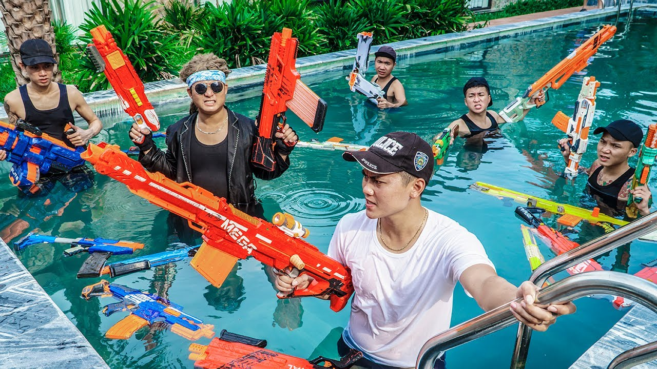 LTT Game Nerf War : Warriors SEAL X Nerf Guns Fight Rocket Crazy The Chase To Save The Best Friend