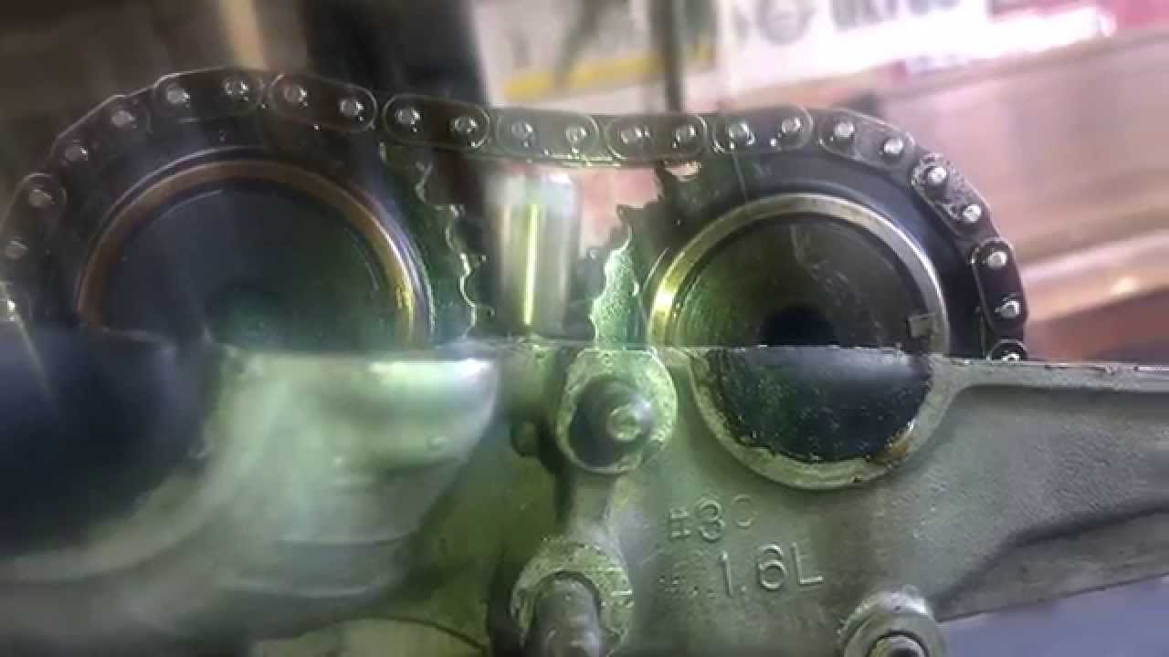 Hyundai Elantra G4GR engine cam shafts timing marks  YouTube
