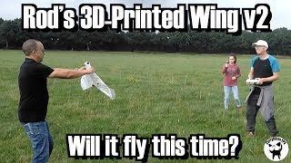 Rods 3D-Printing Wing v2: Will it fly this time ?