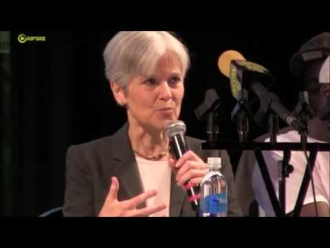 Jill Stein takes a question on environmental justice