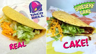 HOW TO MAKE A TACO BELL CAKE | Lookalike Challenge