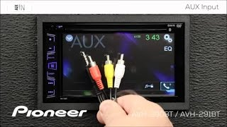 How to - AUX Input - Pioneer AVH-290BT, AVH-291BT, MVH-290BT, AVH-190DVD