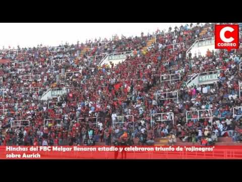Miles De Hinchas Del FBC Melgar Cantan Himno De Arequipa En Estadio