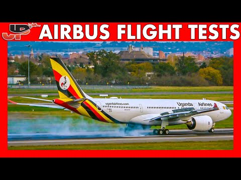 Flight Testing AIRBUS A320 A330 A350 A380 in Toulouse   Rejected Takeoff, Go-Around, Touch & Go etc