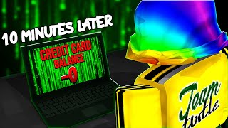 BIGGEST HATER uses my CREDIT CARD.. you won't believe what he buys.. (Roblox)