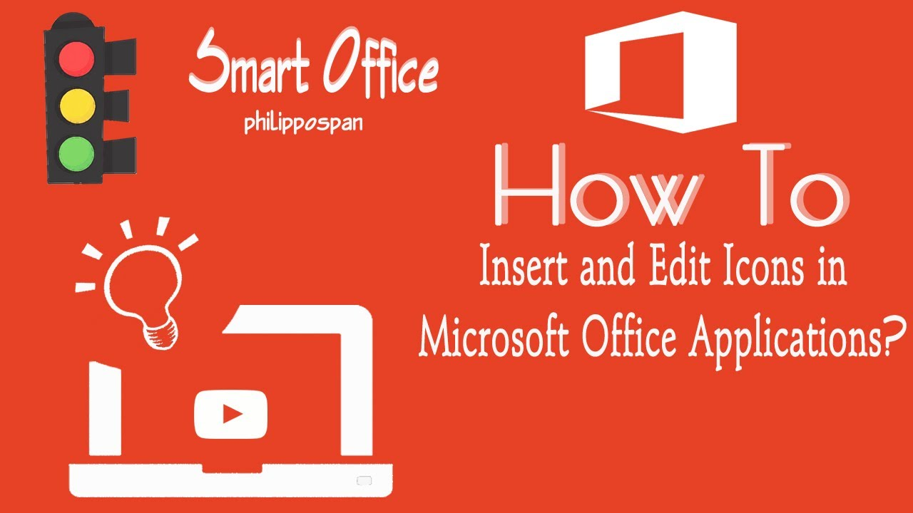 Insert And Edit Icons In Microsoft Office 365 Youtube