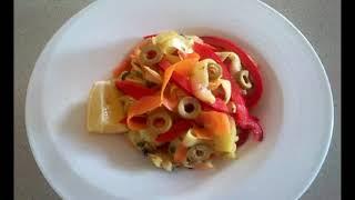 Салаты и закуски из овощей.