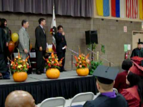 My son getting his diploma @ Capital City Independent School