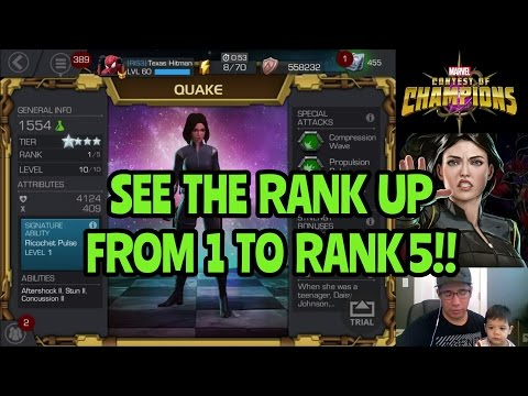 Epic 4 Star Quake Rank Up 5/50 Marvel Contest of Champions