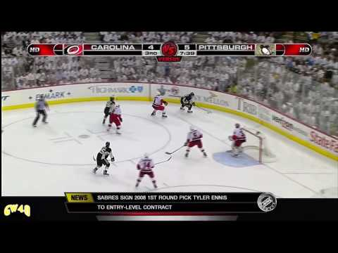 11 years ago today, Evgeni Malkin scored a playoff hat trick against the Hurricanes (Game 2, ECF)