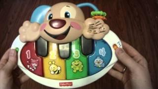 Обзор №1  Развивающая игрушка Пианино Щенок Fisher Price русская версия