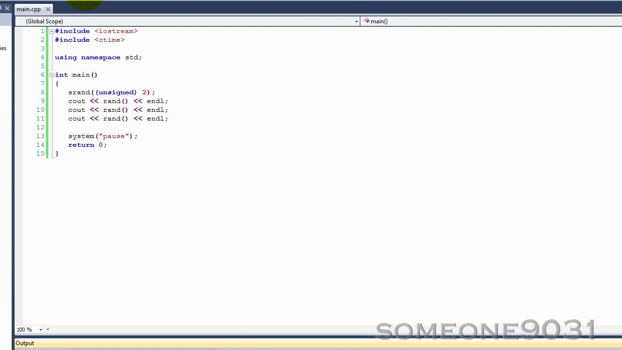 randomize function in c++ tutorial