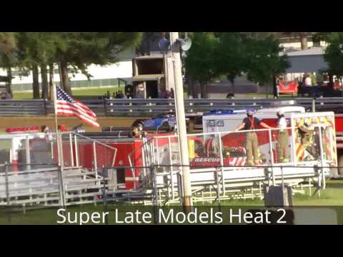 Little Valley Speedway Super Late Model Heats 6-10-16