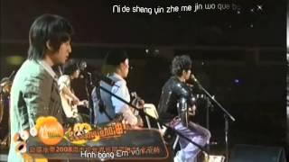 Vietsub + Kara Jay Chou   Cầu Vồng Cai Hong  Live 2008 Verison    YouTube